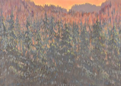Forest Dawn 26 x 18 oil