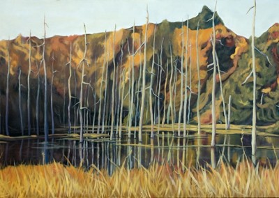 Swamp Song 60 x 24 oil