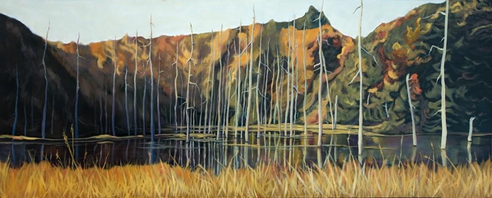 Swamp Song 60 x 24 oil