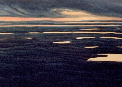 Undulating Earth - Ungava 20 x 60 oil
